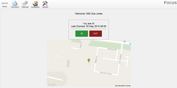 Clock IN with Geolocation